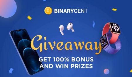 Binarycent Para Yatırma Promosyonu - %100'e Varan Bonus
