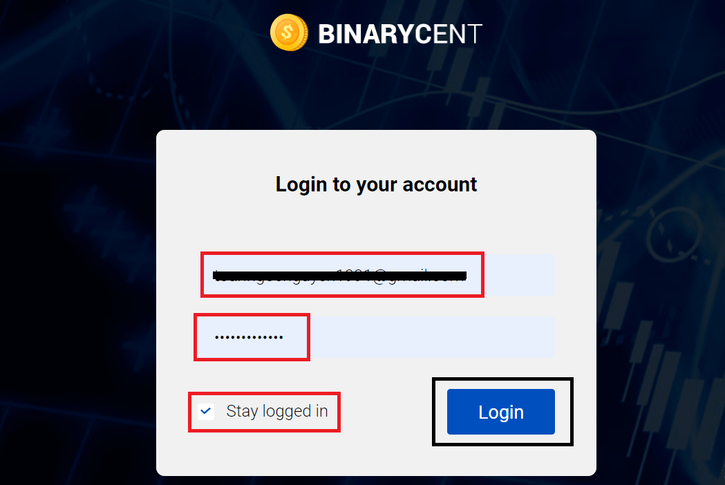 How to Open Account and Sign in to Binarycent